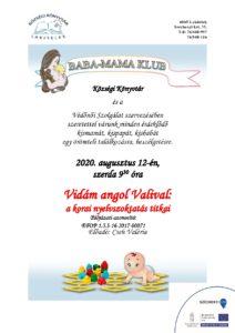 Baba-mama klub Vidám angol Valival